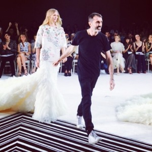 Giambattista taking a bow
