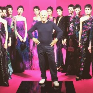 Giorgio con le modelle