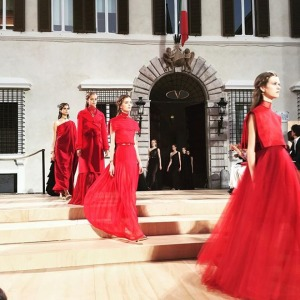 Iconic red of Valentino