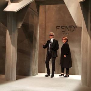 silvia Fendi Karl Lagerfeld